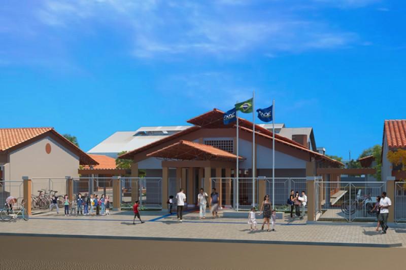Escola modelo Fundo Nacional de Desenvolvimento da Educação (FNDE) será construída no colégio Municipal . (Foto: Divulgação)