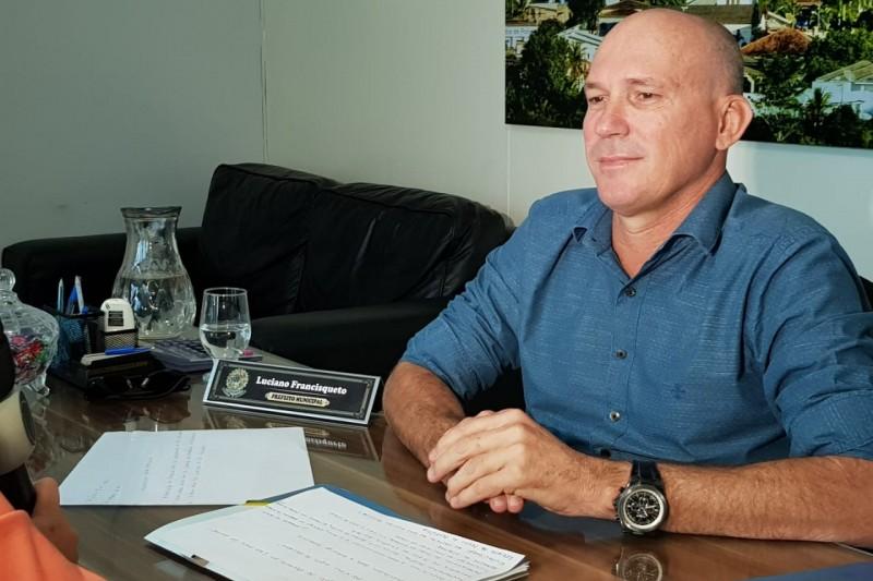 Prefeito Luciano Francisqueto falou da satisfação de estar trabalhando em prol do município.(Foto: Arquivo/BAHIA DIA A DIA)