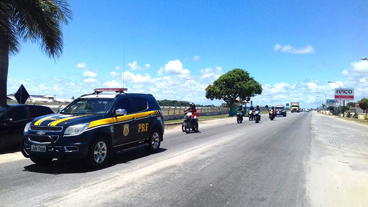 Operação Rodovida fiscaliza mais de 1000 motociclistas. (Foto: Divulgação/PRF)