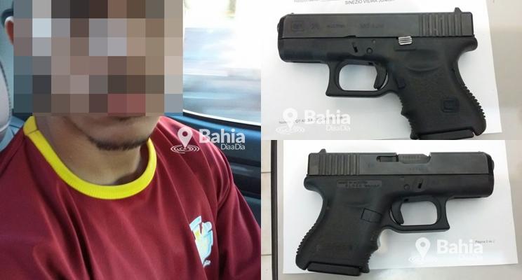 Policia Civil prende homicida com arma austríaca em Porto Seguro