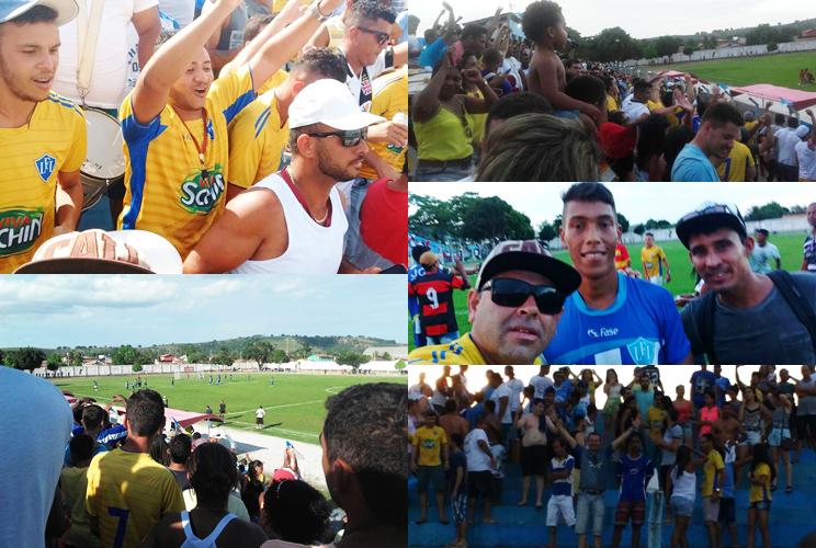 Torcedores Itabelenses lotam estádio Manzolão. (Foto: Reprodução/Whatsapp)