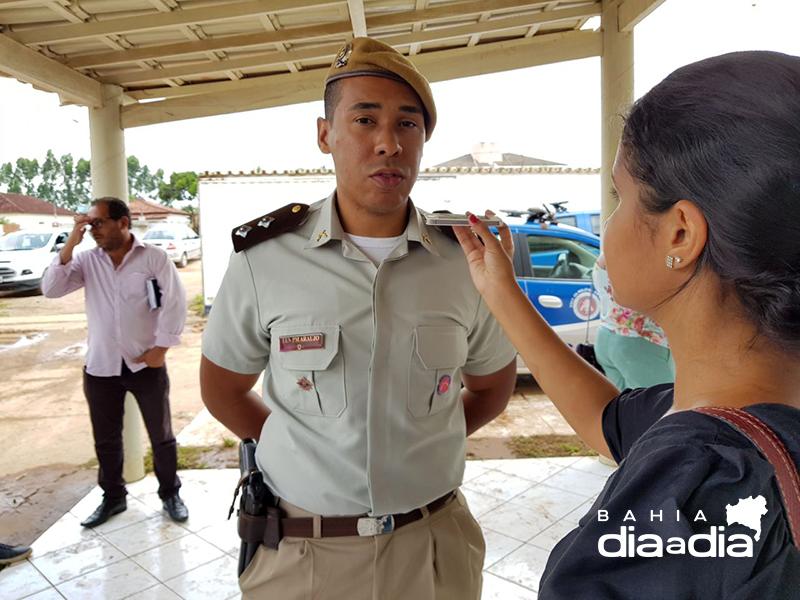 Diego Araújo, comandante do 4º Pelotão de Itabela.(Foto: Arquivo/BAHIA DIA A DIA)