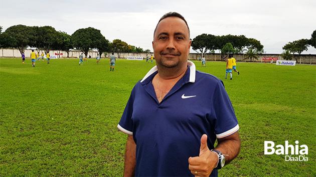 Técnico da Seleção de Itabela, Marcos Correia garante confiança da equipe para jogo neste domingo (Foto: Alex Gonçalves/BAHIA DIA A DIA)