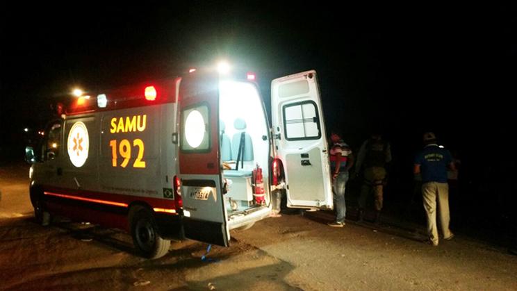 SAMU prestou os primeiros atendimentos as vítimas. (Foto: Reprodução/Whatsapp)