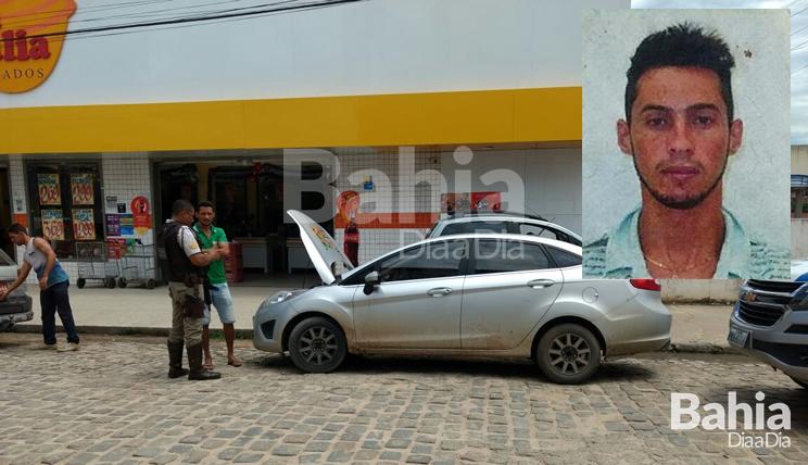 Homem de 31 anos foi abordado com carro clonado no centro de Itabela (Foto: Divulgação/PM)